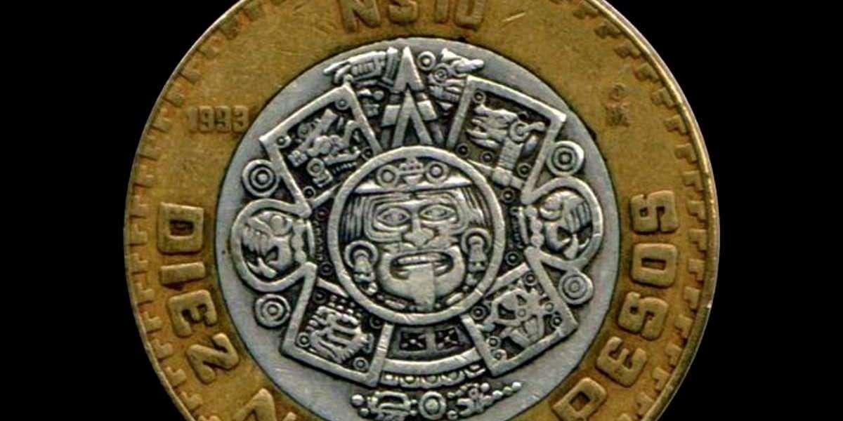 Algunas monedas de 10 pesos tienen un mayor valor por su centro de plata