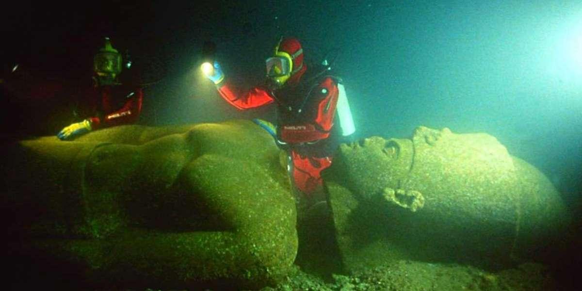 Descubren ciudad sumergida en la costa de Egipto ricamente conservada con más de 2,000 años de antigüedad